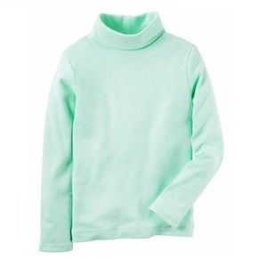 Carter's Solid Mint/Aqua Turtleneck 5T